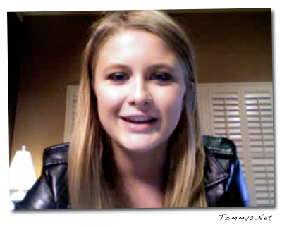 Savannah took part it her first online video chat yesterday at Justin.tv.