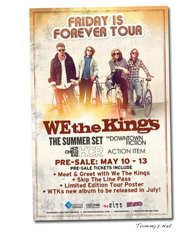 Tommy2 we the kings archives page 2 of 5 tommy2 hot chelle rae has been added to the friday is forever tour featuring we the kings the summer set the downtown fiction and action item m4hsunfo